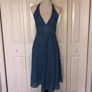 J. Crew tie neck halter dress